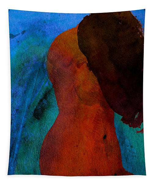 Mixed Media Figure Tapestry