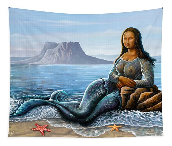 Monalisa Mermaid Tapestry