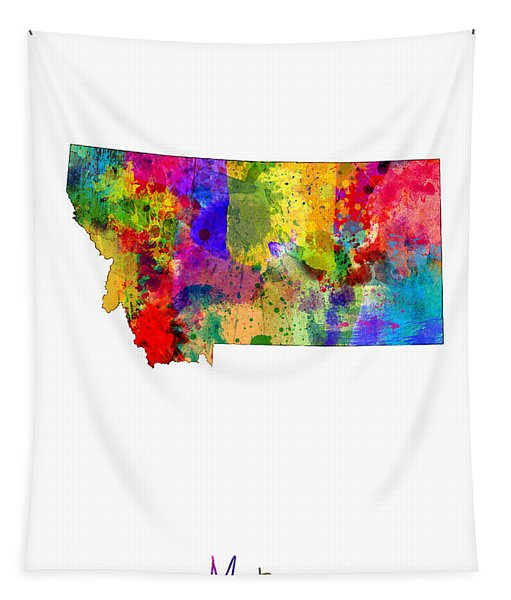 Montana Map Tapestry
