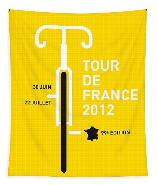 My Tour De France 2012 Minimal Poster Tapestry