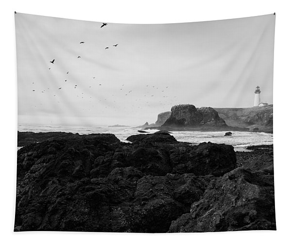 Mysterious Yaquina Head Tapestry