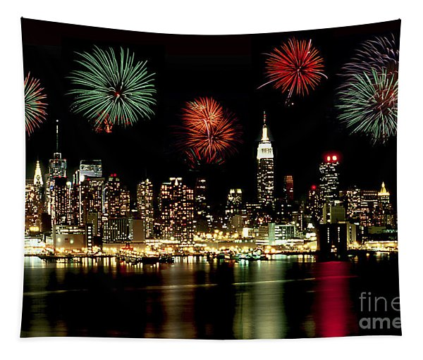 New York City Fourth Of July Tapestry