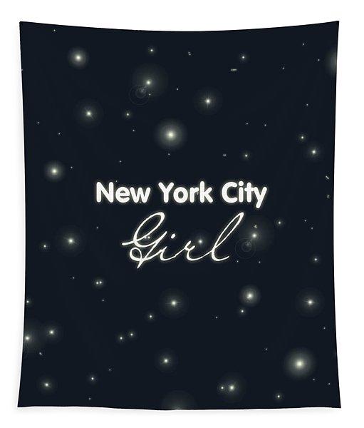 New York City Girl Tapestry