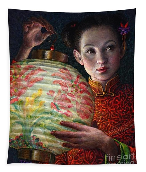 Nightingale Girl Tapestry
