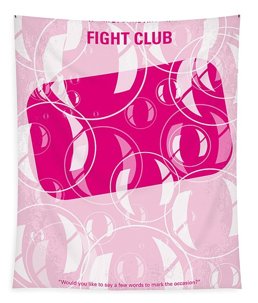 No027 My Fight Club Minimal Movie Poster Tapestry