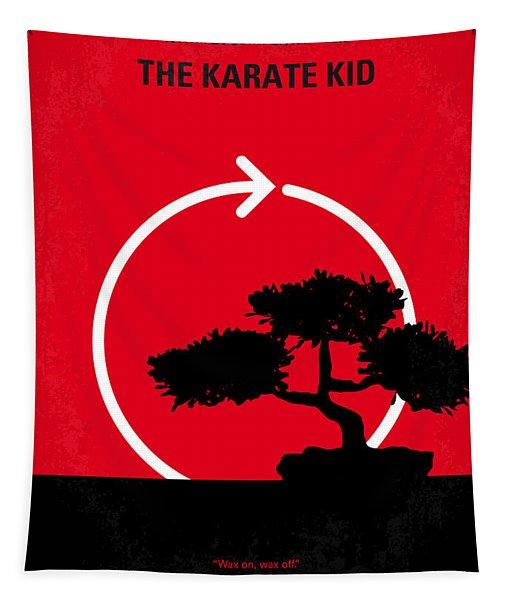 No125 My Karate Kid Minimal Movie Poster Tapestry