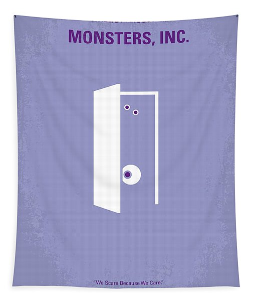 No161 My Monster Inc Minimal Movie Poster Tapestry