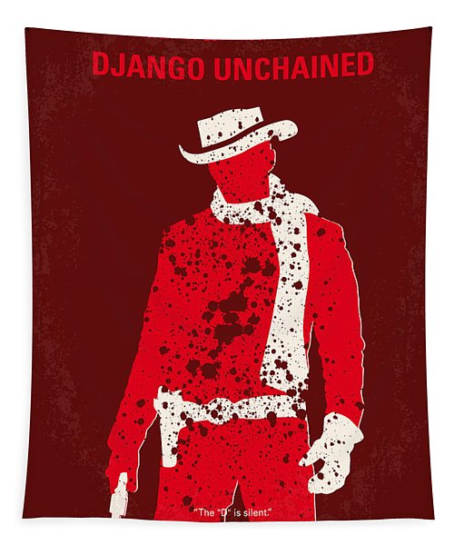 No184 My Django Unchained Minimal Movie Poster Tapestry