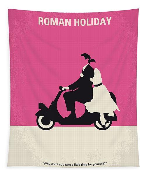 No205 My Roman Holiday Minimal Movie Poster Tapestry
