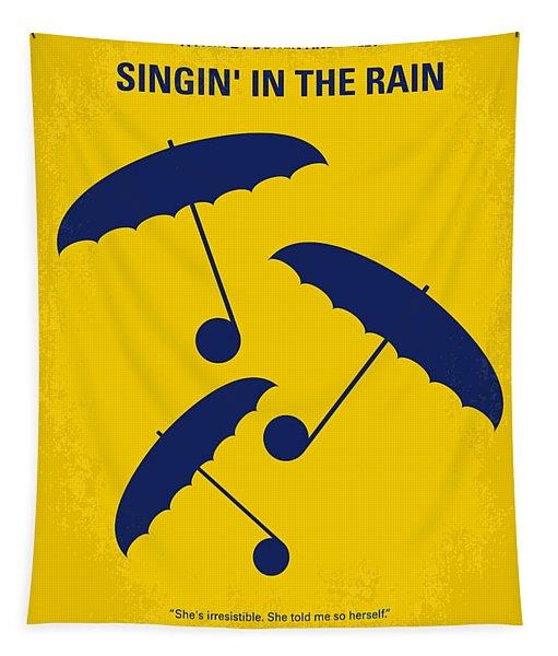 No254 My Singin In The Rain Minimal Movie Poster Tapestry