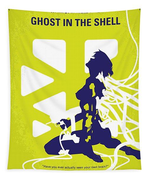 No366 My Ghost In The Shell Minimal Movie Poster Tapestry