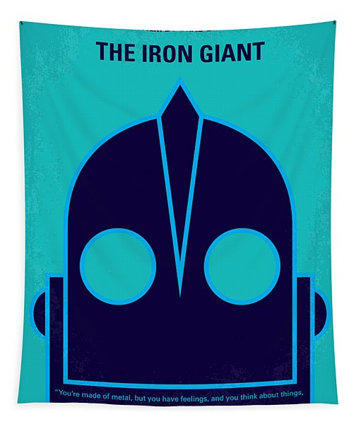 No406 My The Iron Giant Minimal Movie Poster Tapestry
