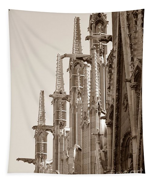 Notre Dame Sentries Sepia Tapestry