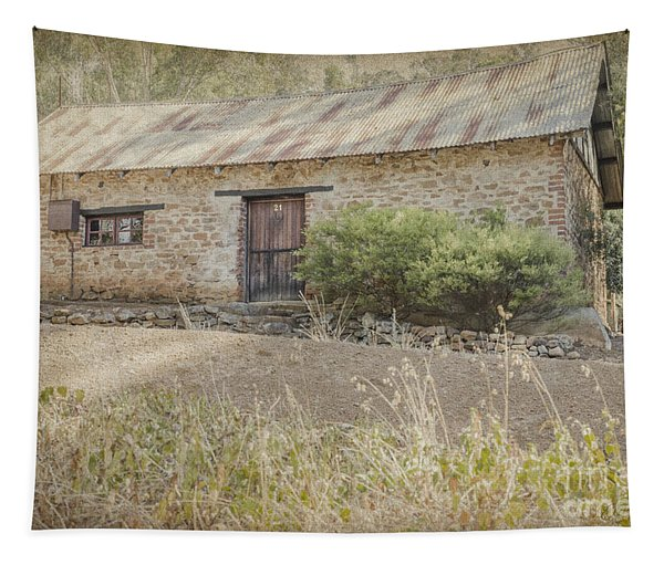 Old Stone Cottage Tapestry