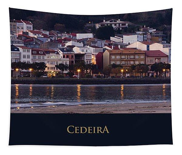 Panorama Of Cedeira Galicia Spain Tapestry