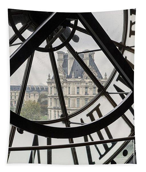 Paris Clock Tapestry