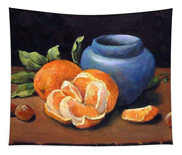 Peeled Orange Tapestry