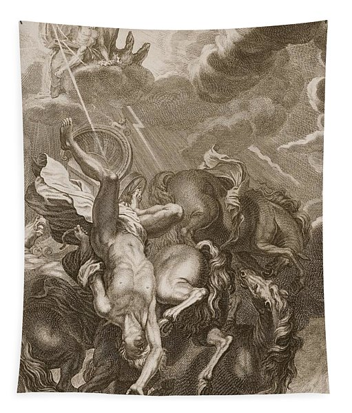 Phaeton Struck Down By Jupiter's Thunderbolt Tapestry