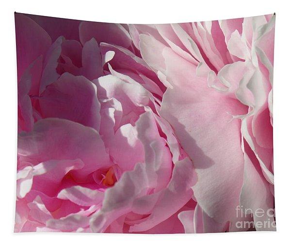 Pink Peonies Tapestry