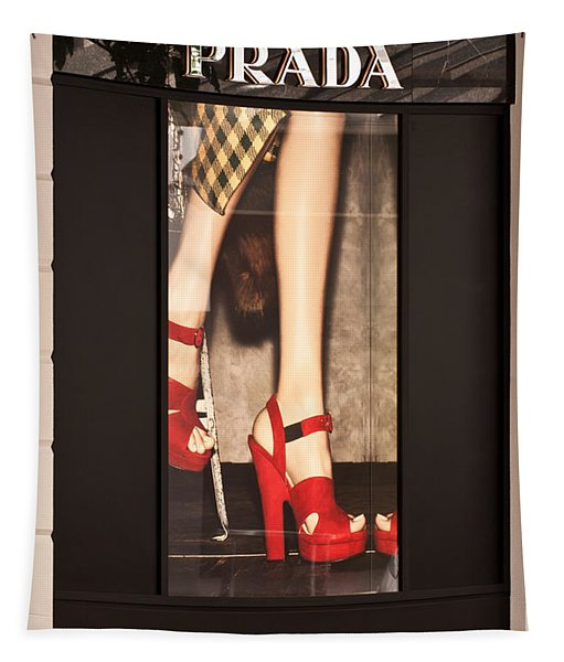 Prada Red Shoes Tapestry