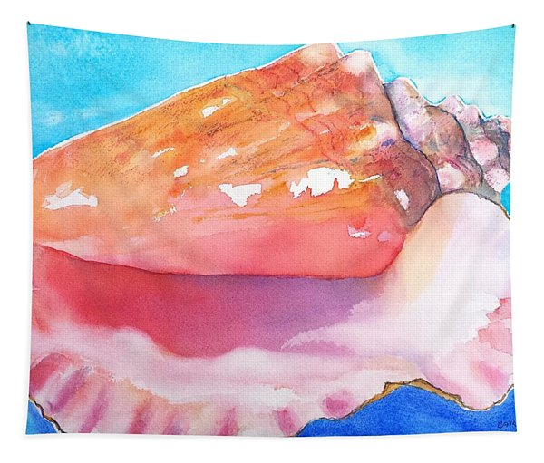 Queen Conch Shell Tapestry