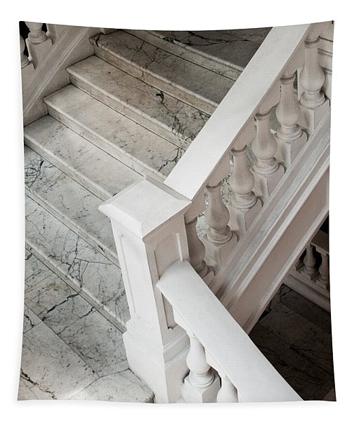 Raffle's Hotel Marble Staircase Tapestry