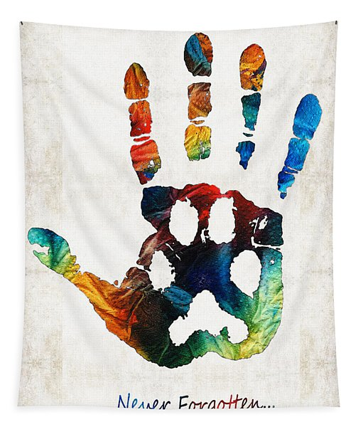 Rainbow Bridge Art - Never Forgotten - By Sharon Cummings Tapestry