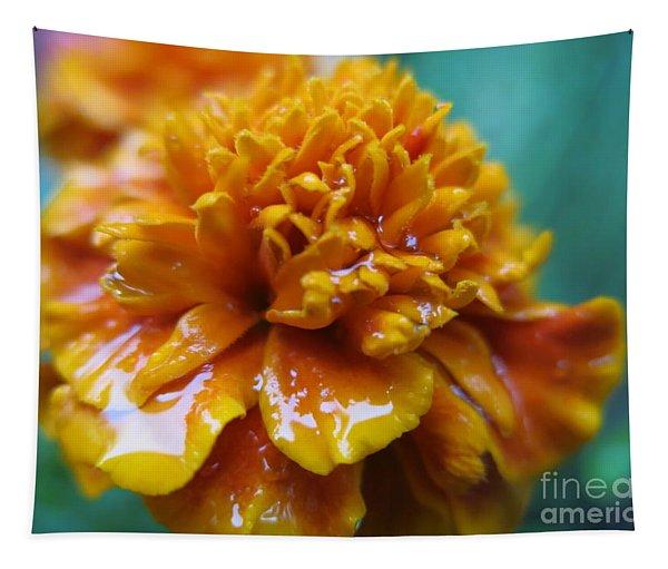 Rainy Marigolds Tapestry