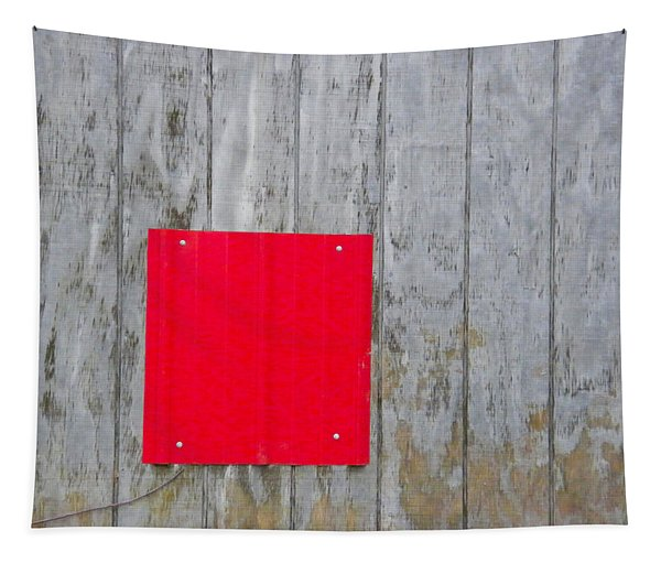 Red Square On A Wall Tapestry