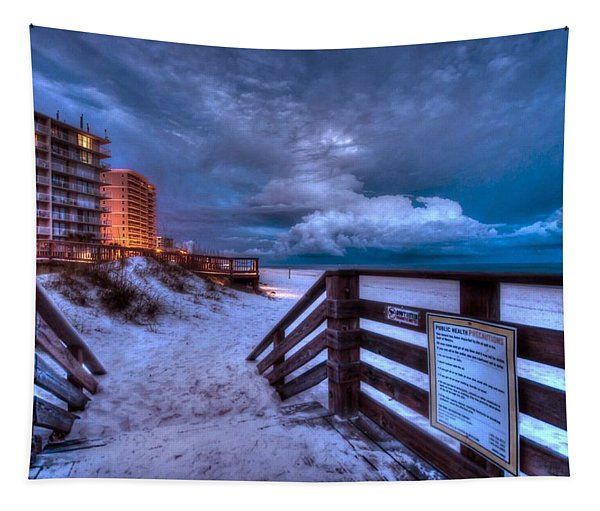Romar Beach Clouds Tapestry