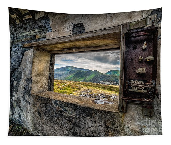 Ruin With A View  Tapestry