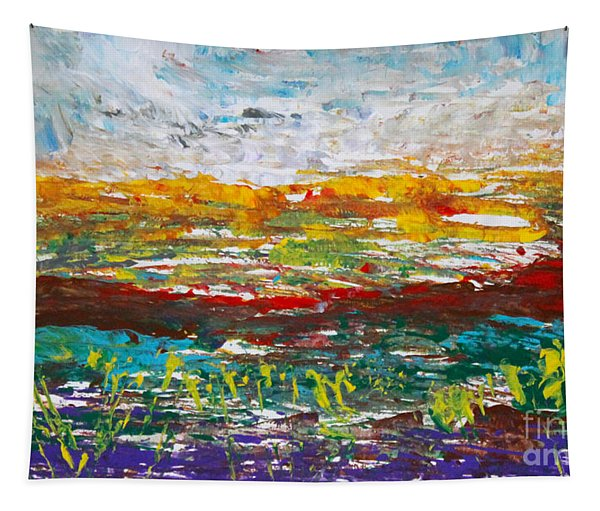 Rustic Landscape Abstract Tapestry