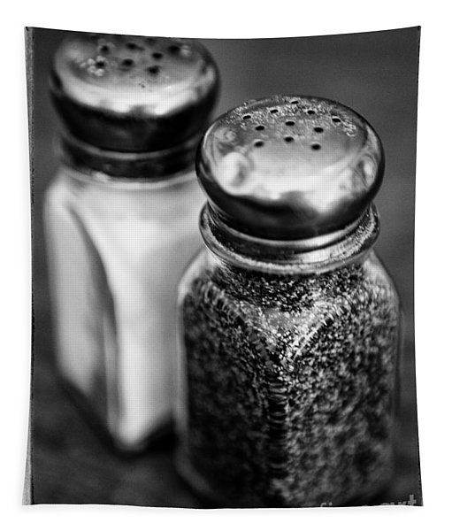Salt And Pepper Shaker  Black And White Tapestry