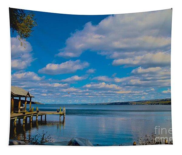 Seneca Lake At Glenora Point Tapestry