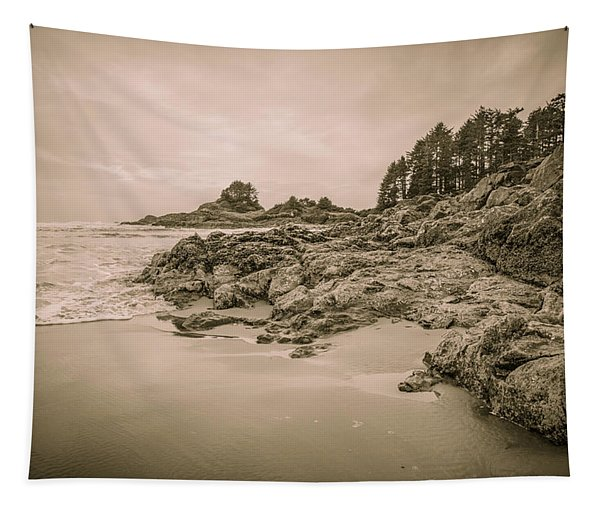 Cox Bay Sepia Tapestry