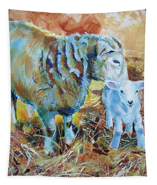Sheep And Lamb Tapestry