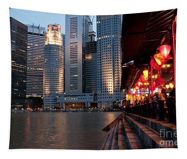 Singapore Boat Quay 02 Tapestry