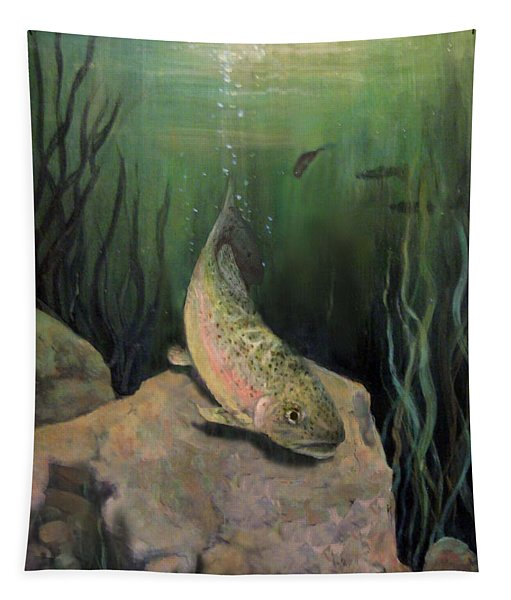 Single Trout Tapestry