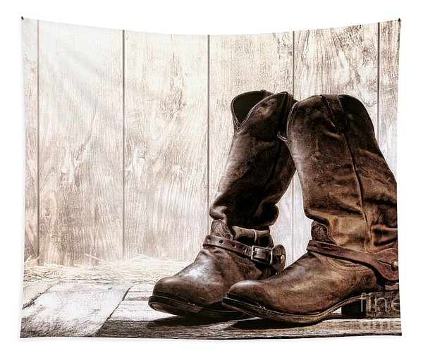 Slouch Cowboy Boots Tapestry