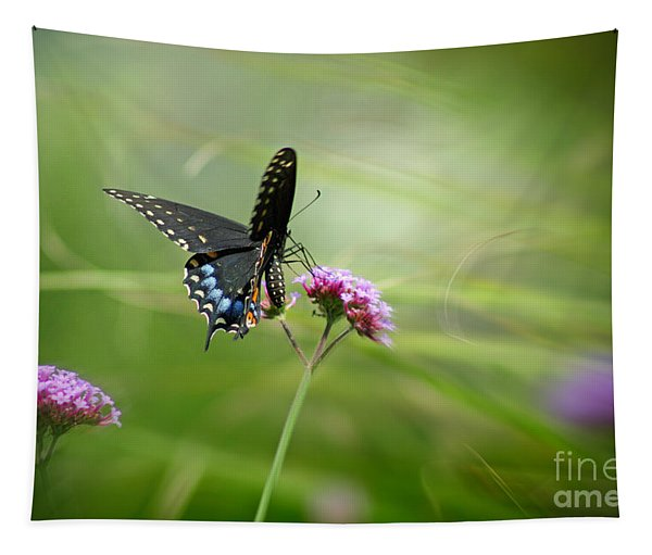 Spicebush Swallowtail Butterfly Tapestry