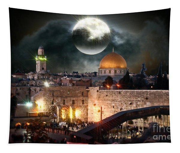 Full Moon Israel Tapestry