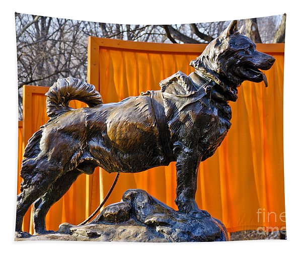 Statue Of Balto In Nyc Central Park Tapestry