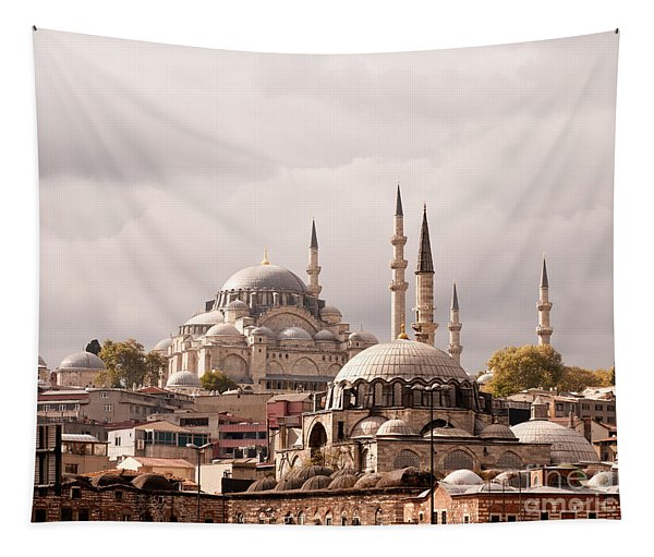 Sunlit Domes Tapestry