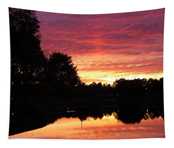 Sunset And Lake Tapestry