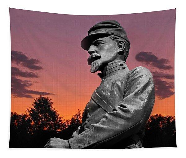 Sunset At Gettysburg  Tapestry