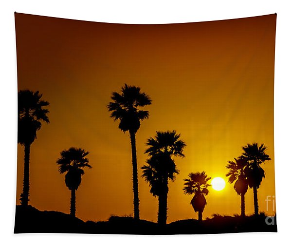 Sunset At The Beach Large Canvas Art, Canvas Print, Large Art, Large Wall Decor, Home Decor Tapestry