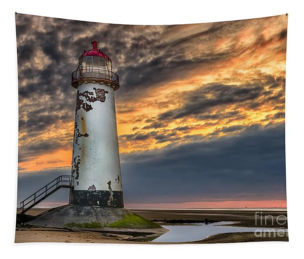 Sunset Lighthouse Tapestry