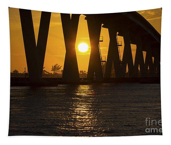 Sunset Over Sanibel Island Photo Tapestry
