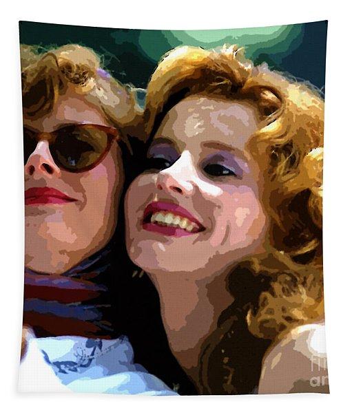 Susan Sarandon And Geena Davies Alias Thelma And Louis - Watercolor Tapestry