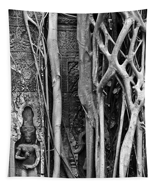 Ta Prohm Roots And Stone 09 Tapestry